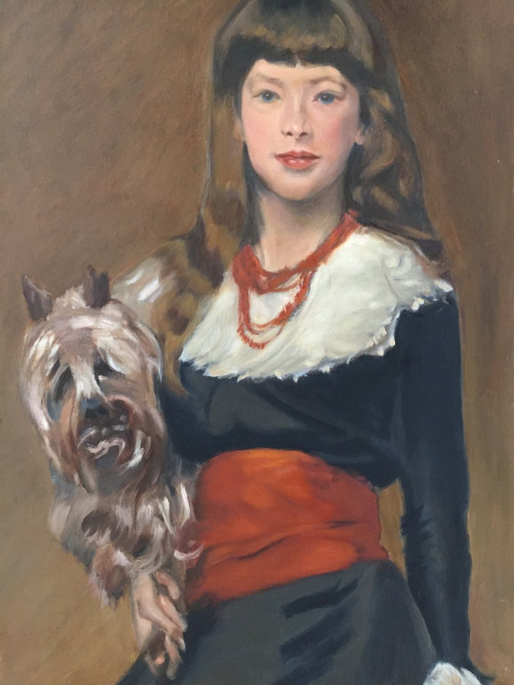 """Copy of  John Singer Sargent's  """"Miss Beatrice Townsend"""""""