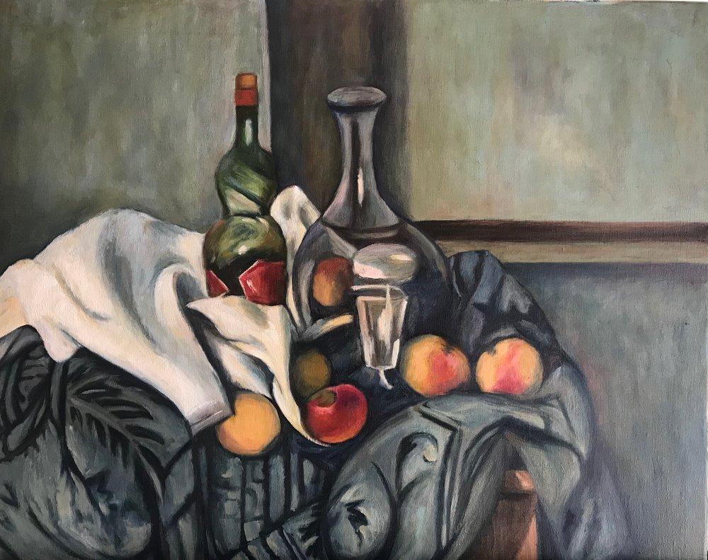 """Copy of Paul Cezanne's  """"The Peppermint Bottle"""""""