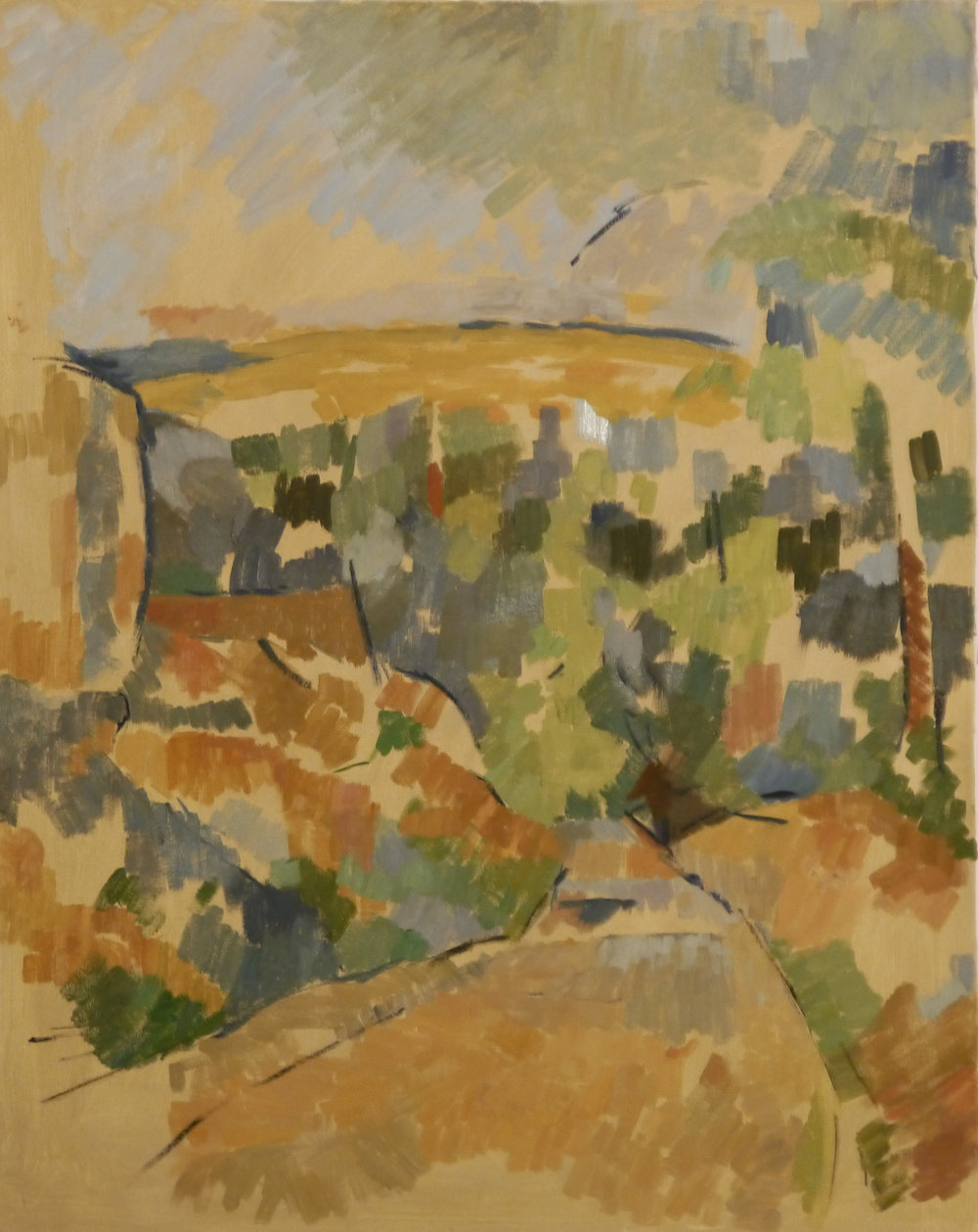 """Copy of Paul Cezanne's  """"The Bend in the Road"""""""