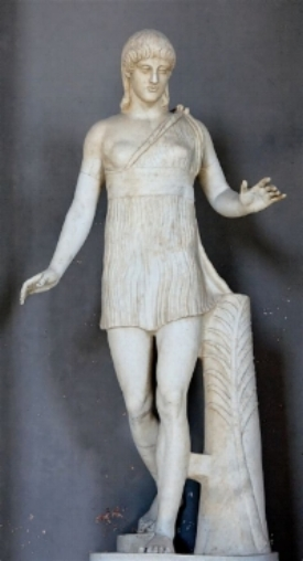 """Atalanta, great warrior and huntress of Roman mythology.    The """"Barberini Atalanta"""", formerly in the    Barberini Palace   , Rome, now in the    Vatican   , inv. 2784. Either Greek original, 1st century BC or Roman copy, 2nd century AD"""