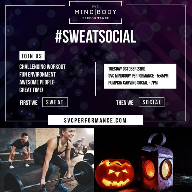 ⠀⠀⠀⠀⠀⠀⠀⠀⠀ Sweat Social ⠀⠀⠀⠀⠀⠀⠀⠀⠀ We have a treat for you this month 😋...or is it a trick 😈 ⠀⠀⠀⠀⠀⠀⠀⠀⠀ Tuesday Oct 23rd we'll Sweat at 5:45pm and after we'll Social with a pumpkin carving contest 🎃 🥇 ⠀⠀⠀⠀⠀⠀⠀⠀⠀ But wait...there's more! ⠀⠀⠀⠀⠀⠀⠀⠀⠀ @adampusateri has volunteered to provide some tasty treats for us all to enjoy 😊 ⠀⠀⠀⠀⠀⠀⠀⠀⠀ Now the only question is...what should the contest be??? ⠀⠀⠀⠀⠀⠀⠀⠀⠀ #goodvibesonly #liveyourbestlife #mindbodyperformance #performancecoach #playfullout #selfmastery #lasvegascrossfit #vegascrossfit #vegasfitness #lasvegasfitness #vegasfit #welovevegas #vegasfitfam #mindset #communityofchampions #sweatsocial