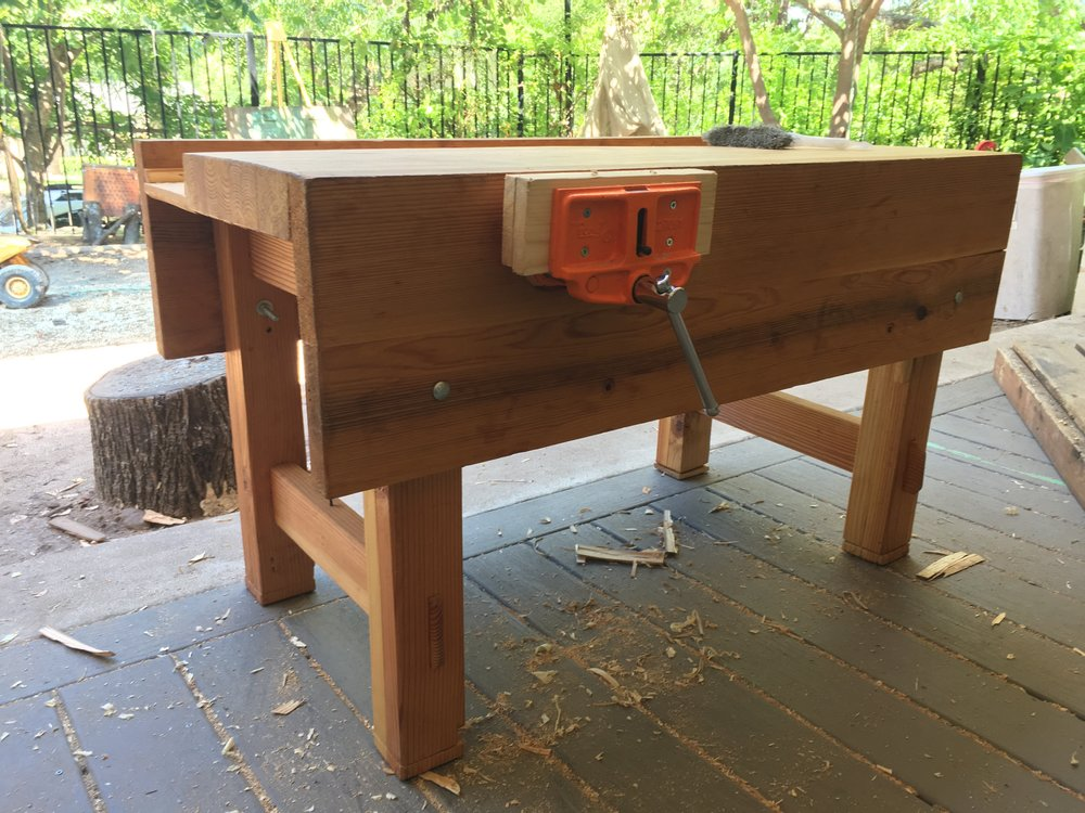 - Child size work bench $500This is a traditional English woodworking bench inspired by a Paul Sellers design.Mortise and tenon joinery make this bench built to last for generations.The wedged leg joinery allows for partial deconstruction.