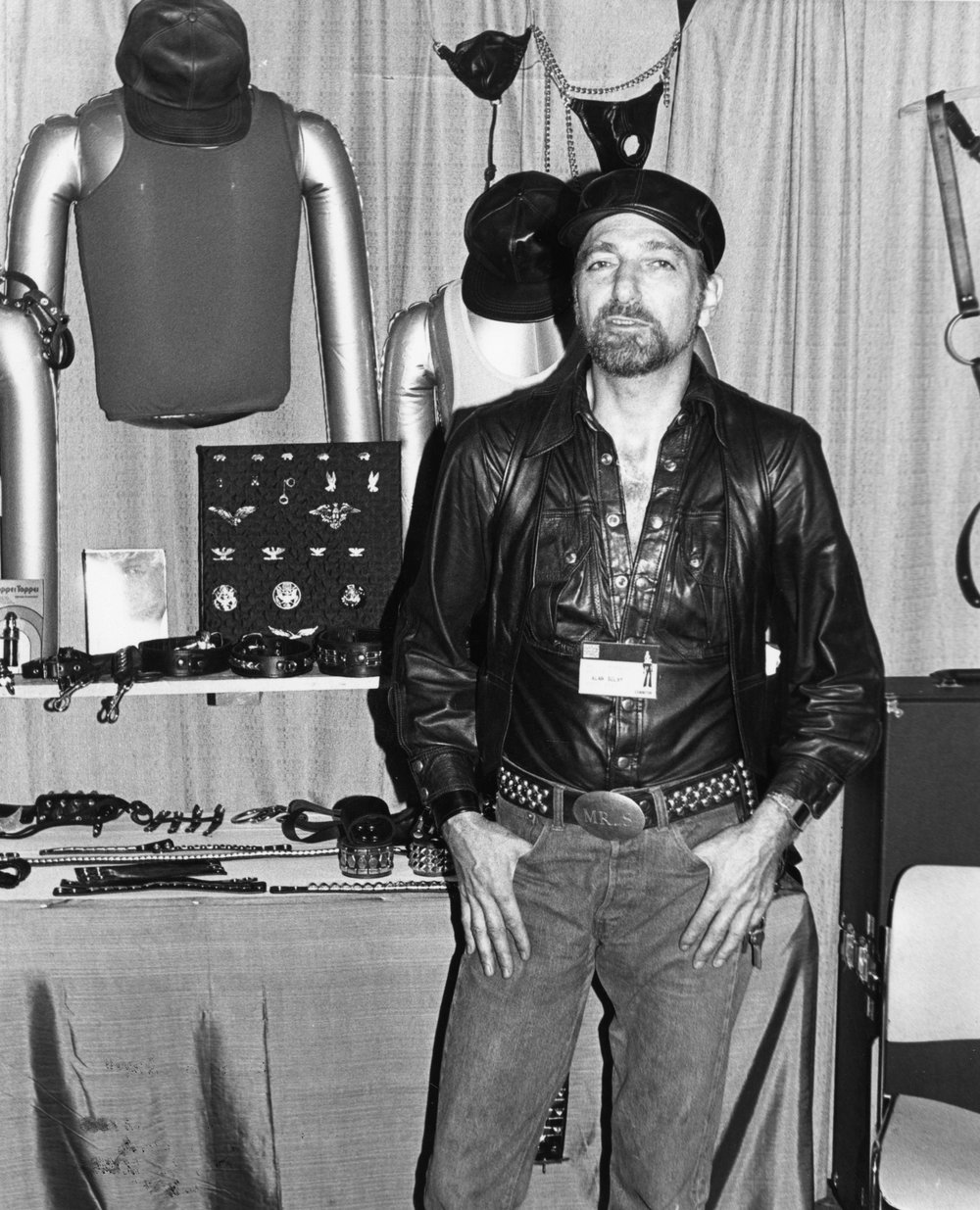 Alan Selby at the Mr. S Leather store on 7th Street in San Francisco (circa 1980). Photograph by Alexander V. Areno, all rights reserved; courtesy of Gayle Rubin.