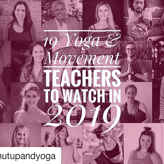 What a list 😍 Keep that curiosity alive, my friends 🙋♀️👏 #Repost @shutupandyoga (@get_repost) ・・・ 🤩New article on ShutUpAndYoga.com 🥳 ⠀ 🤸🏽♂️19 YOGA AND MOVEMENT TEACHERS TO WATCH IN 2019 🏄🏽♀️ ⠀ 👀They're shakers, movers, forward-thinkers and we have a lot to learn from them. The whole SU&Y team hopes you'll like reading about them as much we've enjoyed writing about them 📖 ⠀ 🦸♀️ Read on to learn more about these 19 heroes: 1. Carrie Owerko, PerMISSION to Play @carrieowerko  2. Brea Johnson, Heart + Bones Yoga @heartandbonesyoga  3. Perry Nickelston, Stop Chasing Pain @stopchasingpain  4. Jules Mitchell @julesyoga  5. Garrett Neill, Dr. Yogi Gare @dr_yogi.gare  6. Lara Heimann, Yogastream @lara.heimann  7. Lizzie Lasater @lizzie.lasater  8. Jill Miller, Yoga Tune Up @yogatuneup  9. Cecily Milne, Yoga Detour @yogadetour  10. Trina Altman, Yoga Deconstructed & Pilates Deconstructed @trinaaltman  11. Kathryn Bruni-Young, Mindful Strength @kathrynbruniyoung  12. Jenni Rawlings @jenni_rawlings  13. Katy Bowman, Nutritious Movement @nutritiousmovement  14. Giulia Pline, Physiyoga Teacher @giuliapline  15. Guru Jagat, RA MA Institute @gurujagat  16. Jenn Pilotti @jenn_pilotti  17. Shante Coefield, The Movement Maestro @themovementmaestro  18. Hunter Cook, Hunter Fitness @hunterfitness  19. Tom Myers, Anatomy Trains @anatomytrainsofficial ⠀ 👉 LINK IN BIO ⠀ ✍️ Written by @thelinguisticyogi | edited by @anastasiabuterina ⠀  #yogamagazine #amwriting #amreading #yogapractice #movementteachers #movementeducators #digitalyoga #intentionalliving #yogarenaissance #yogarevolution #yogateacher #functionalmovement #movewell #yogi #shutupandyoga #independentmagazine #indiependentmag #movementislife #yogamedicine #movedaily #yogaeveryday