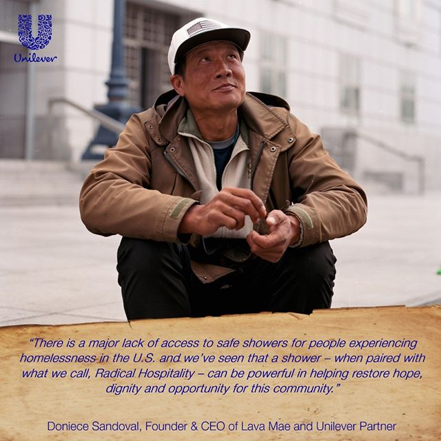 Help deliver showers to our unhoused neighbors, such as James pictured here. Learn more by going to our website on how to give back. #MoreThanAShower #radicalhospitality #lavamae