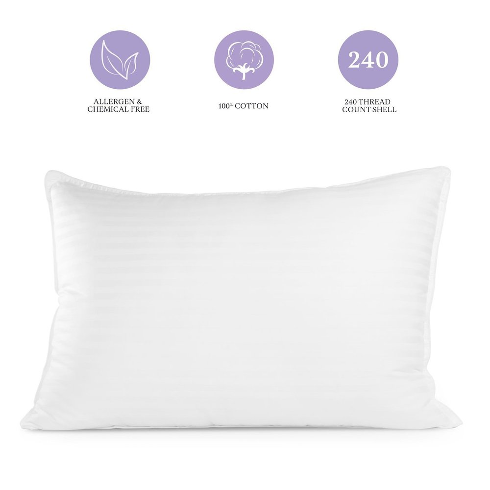 Sleep Restoration Gel Pillow - (2 Pack Queen) Best Hotel Quality Comfortable & Plush Cooling Gel Fiber Filled Pillow - Dust Mite Resistant.jpg