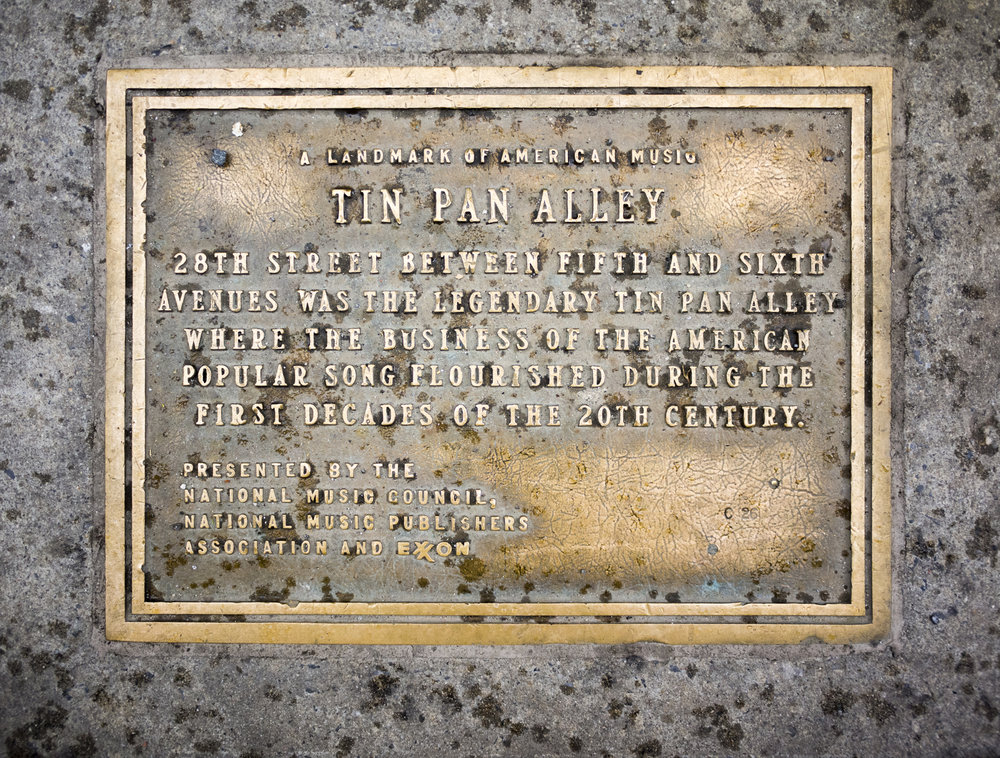 Tin Pan Alley Plaque in New York City.