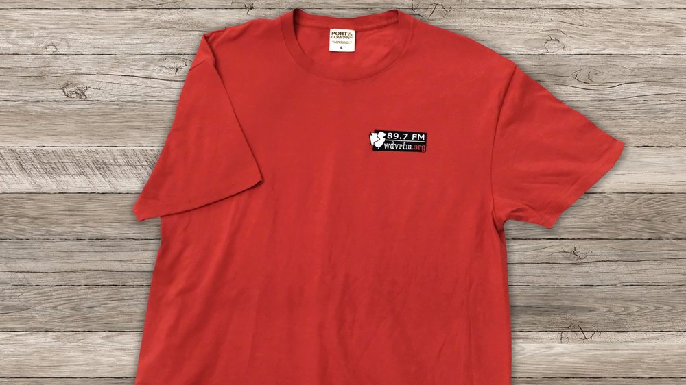T-Shirt Merlot Cotton with Embroidered Logo