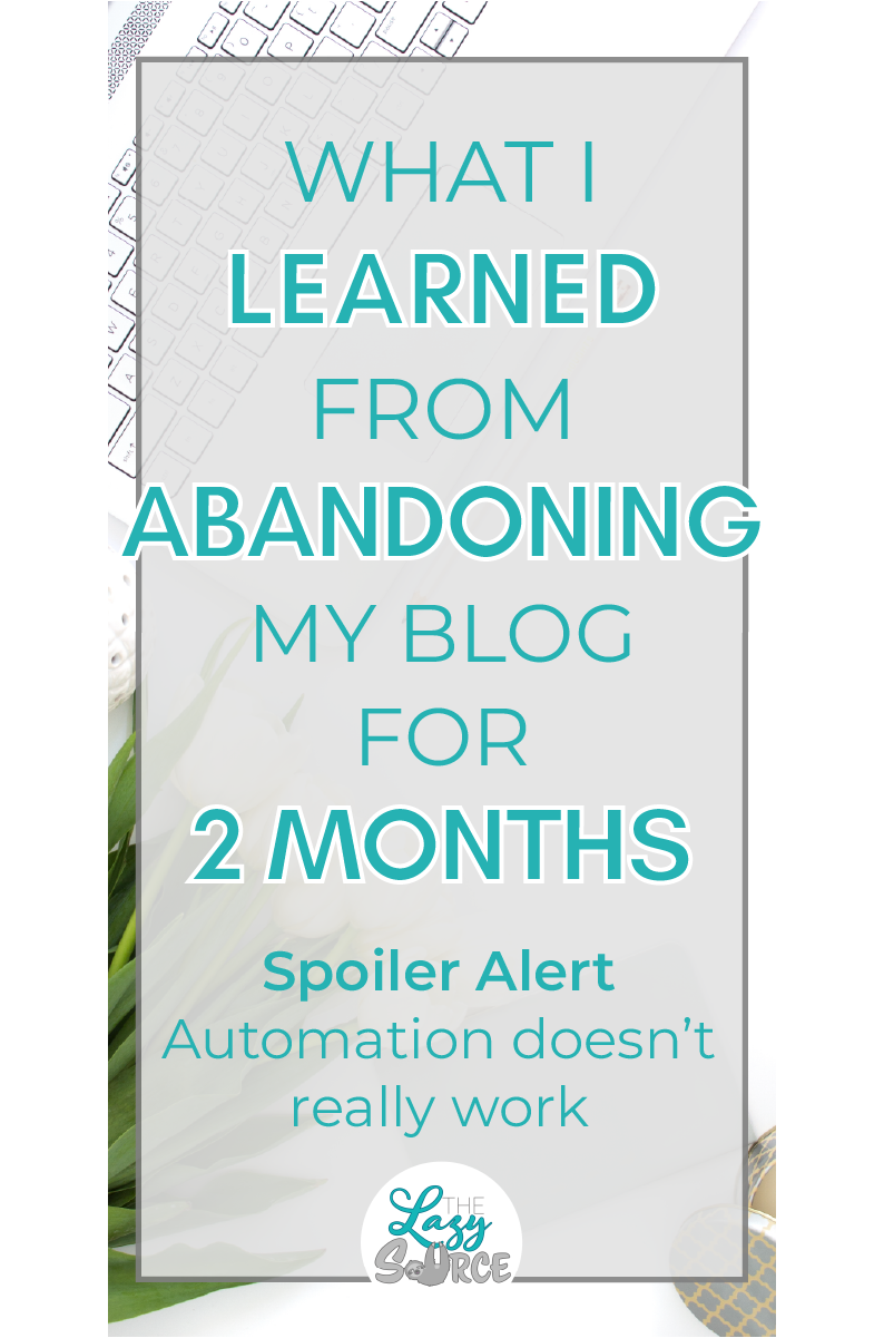 Pinterest image for What I learned from abandoning my blog for 2 months