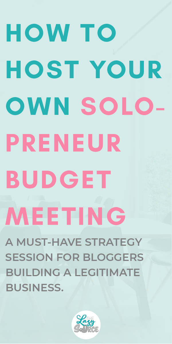 Pinterest image How to host your own solopreneur budget meeting