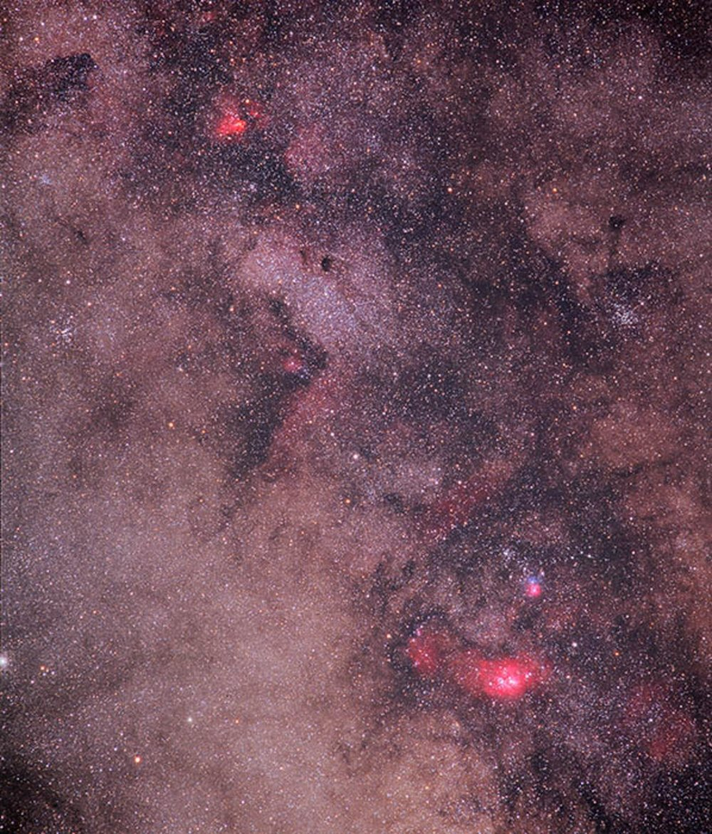 Center of the Milky Way from New Mexico Skies 2003