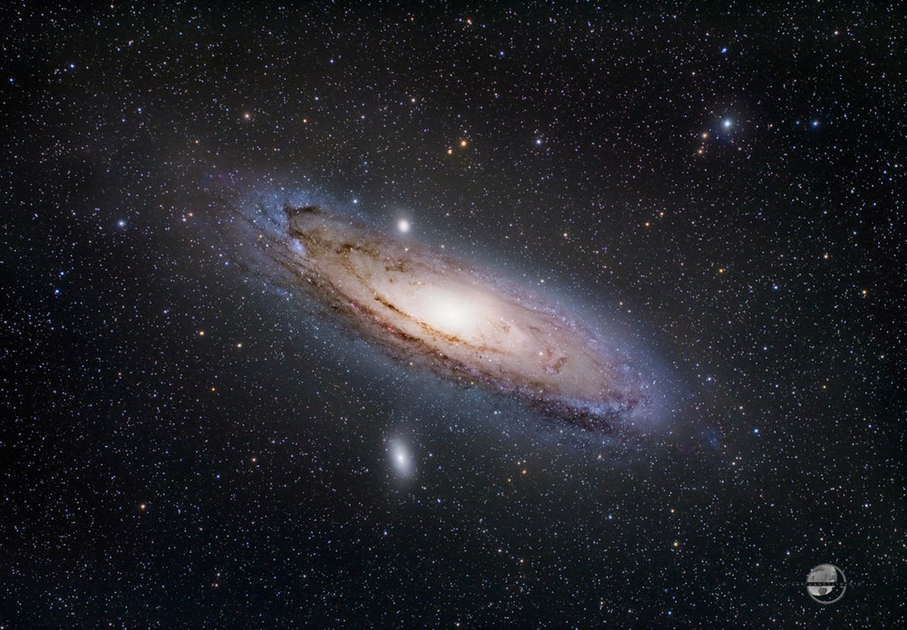 The Great Andromeda Galaxy (Tak 85FSQ and AP130EDF)