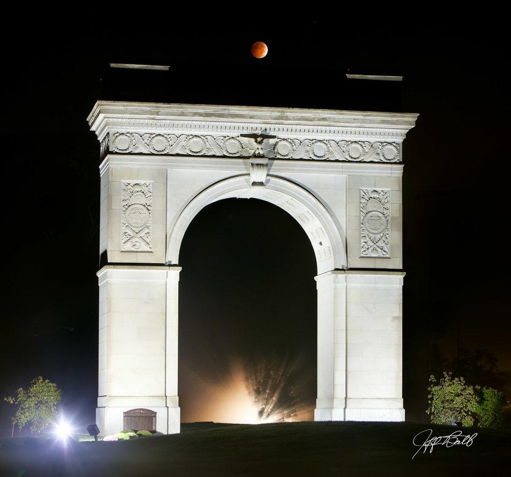 Lunar Eclipse over Arch