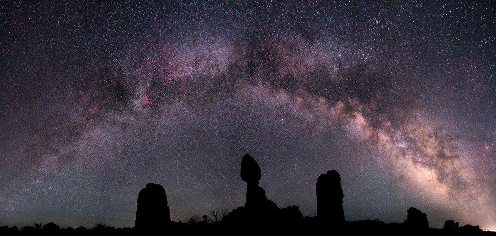 Milky Way Over Balanced Rock