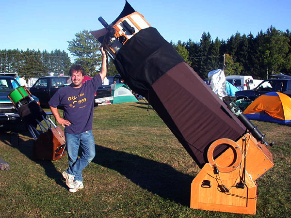 Dave Barrett at Black Forest Star Party 2002