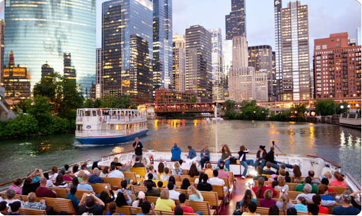 Riverboat cruise throught the city