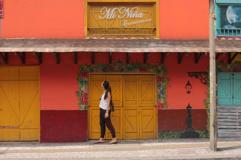 The colourful streets of Medellín.