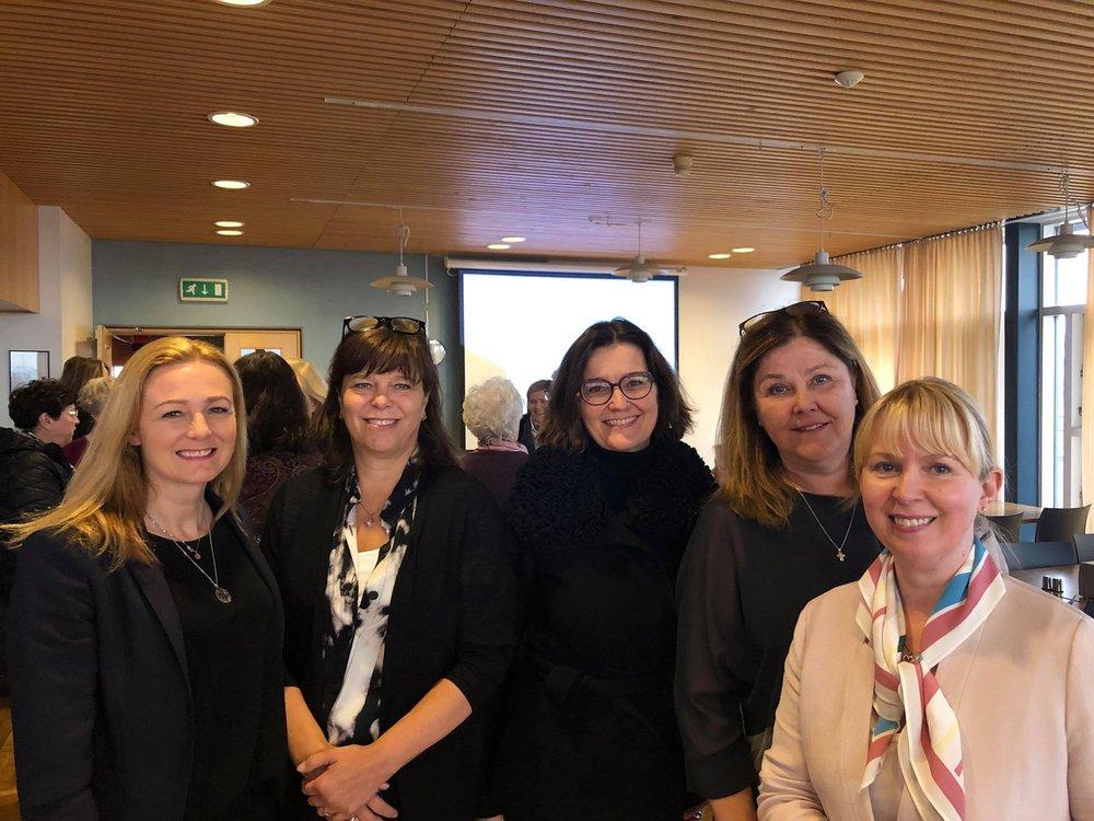 Halldóra Traustadóttir, Helga Guðrún Johnson, Salvör Nordal, Hanna Lára Helgadóttir og Margrét Kristín Sigurðardóttir.
