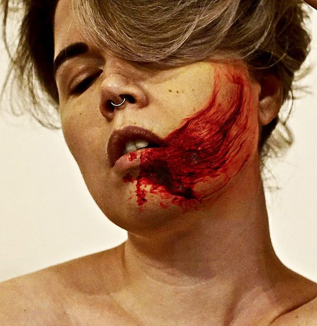 Because I #love you. . . . . . #art #photography #photoart #artwork #stain #body #blood #bloody #red #artistsoninstagram #artist #photographer #instaartist #artwork #instaart #beauty #bodypositivity #arty #selfie #bodypositive #artofinstagram #artsy #smear #face #portrait #portraitphotography #mouth #modernart #feministart #feminist