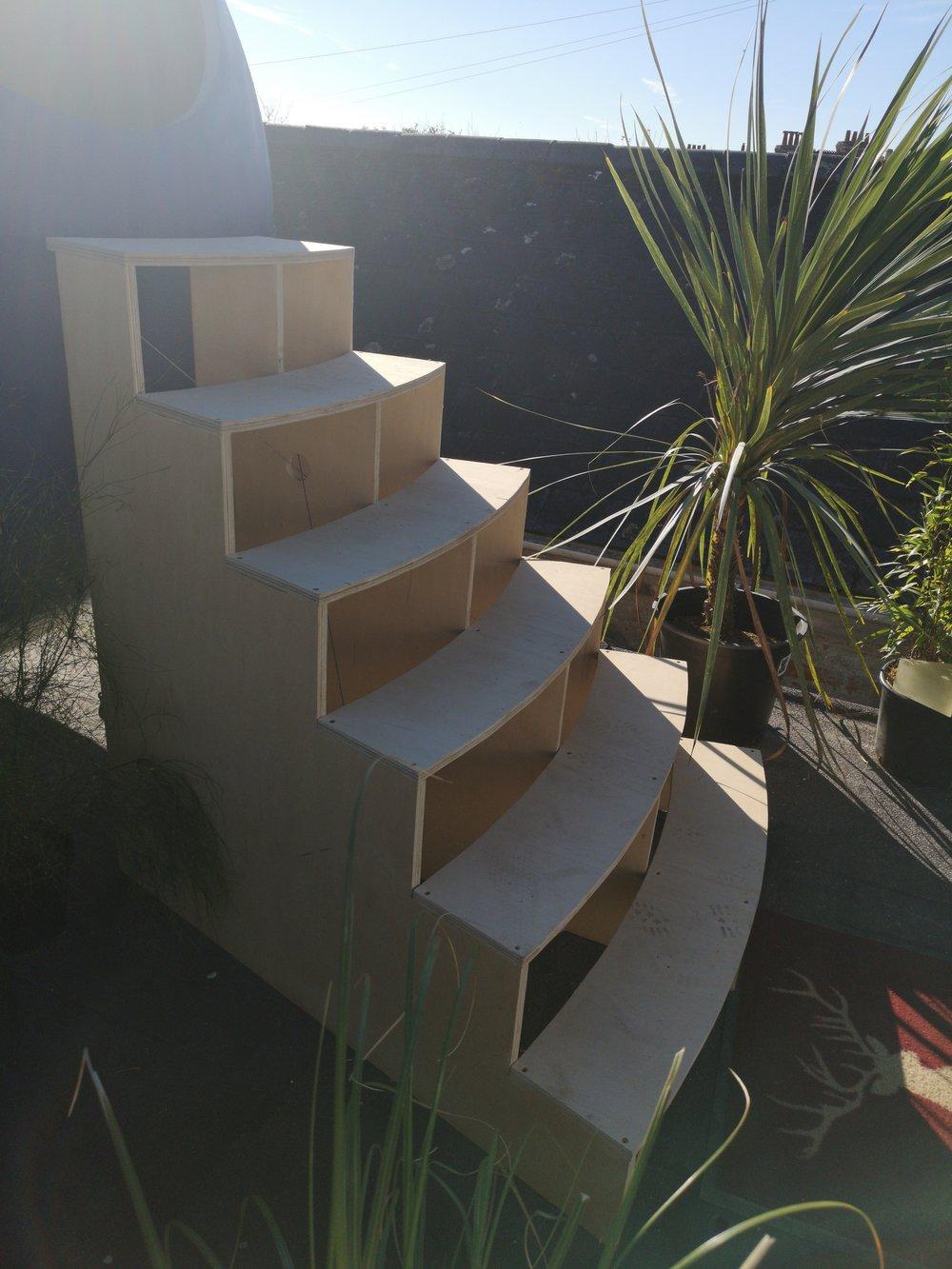 Plywood steps