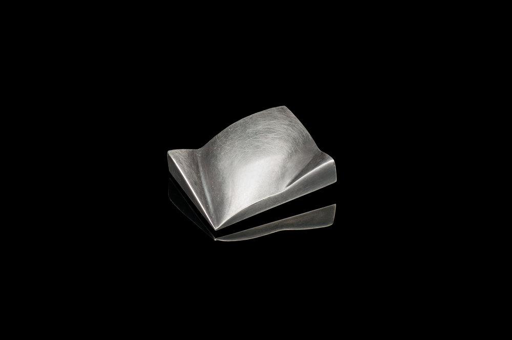 Rectangle 'Folds' Brooch