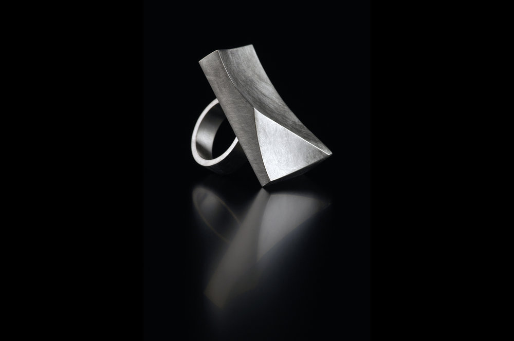 Rectangle 'Crest' Ring