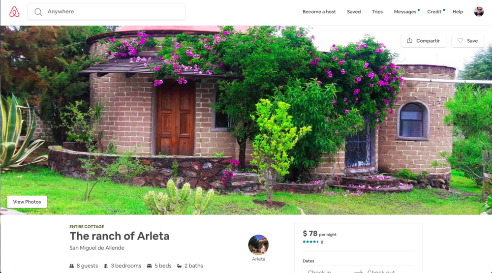 Click on the image to visit the Ranchito on Airbnb.