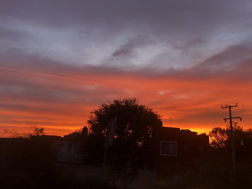The sky ablaze at sunset.... every night
