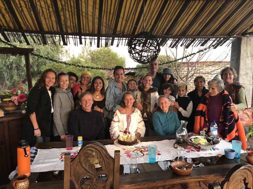 Post temazcal gathering at Arleta's....