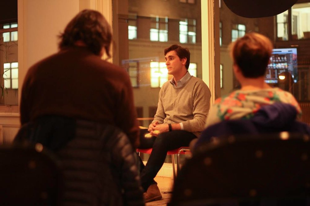 Dan leading Mindfulness for Creatives at The One Club, 2015.