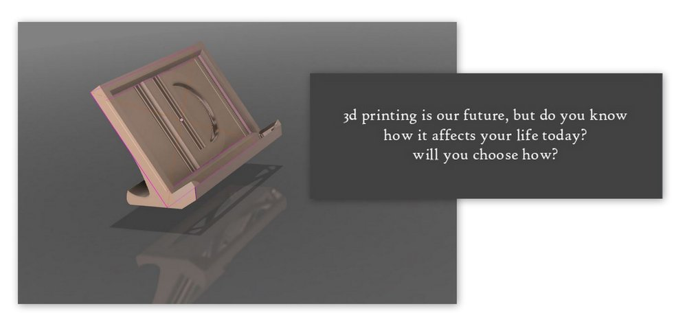 """LD is for Layerfied Designs"" business card stand"