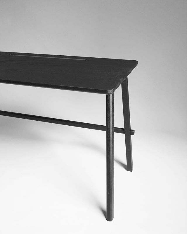 Javo is part of our new collection called kuro which means black in Japanese. Kuro is a tribute to Shou Sugi Ban technique _  #desk #javo #minimalism #mininal #details #inspiration #design #furniture #furnituredesign #black #palette #photography #inspiration #interiordesign #interiors #metal #steel #technique #handcrafted #joinery #joints #wood #oak #collection #handmade #shousugiban #japanese #scandinaviandesign