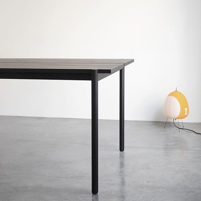 Sungari designed and inspired by Japanese techniques and methodical joinery. Made with solid oak all blackened _  #joinery #joints #special #edition #wood #furnituredesign #furniture #design #minimalism #minimal #minimalist #interiordesign #interiors #wood #oak #japanese #technique #noguchi #lamp #details #inspiration #spacedesign #photography #contemporary #industrialdesign #black #palette #japanese #japanesedesign