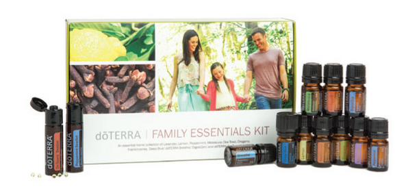 FAMILY ESSENTIALS & BEADLETS KIT - ESSENTIAL OILS (5mL): • Lavender • Lemon • Peppermint • Melaleuca • Oregano • Frankincense • Deep Blue® • doTERRA Breathe® • DigestZen® • doTERRA On Guard® OTHER PRODUCTS: • Peppermint Beadlets • doTERRA On Guard® Beadlets • doTERRA Essentials Booklet€135.70 / ~ Save €28.75
