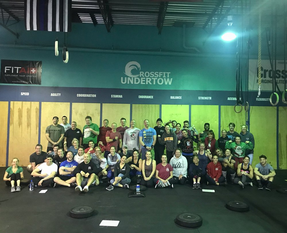 Shout out to those who came down for our xmas eve wod!! Packed house!