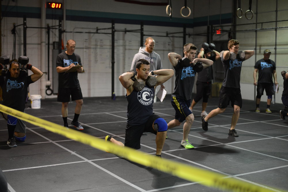 Throw back to the 2017 open where we saw DB lunges as well!
