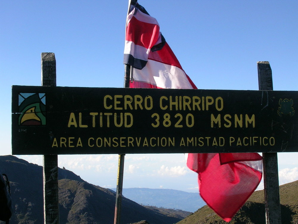 The peak of  Cerro Chirripó,  the highest point in Costa Rica. By Peter Andersen [GFDL (http://www.gnu.org/copyleft/fdl.html), CC-BY-SA-3.0 (http://creativecommons.org/licenses/by-sa/3.0/) or CC BY-SA 2.5  (https://creativecommons.org/licenses/by-sa/2.5)], from Wikimedia Commons