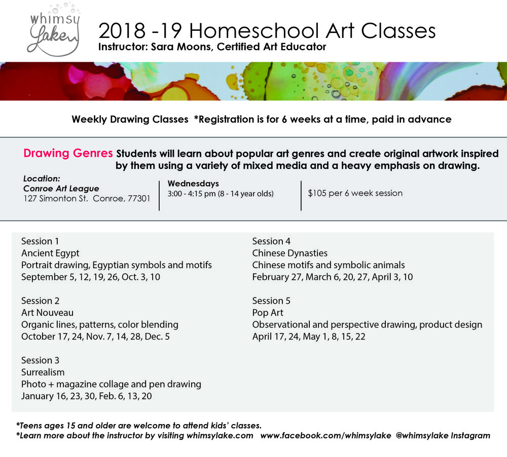 2018-19 Homeschool Art Drawing Lessons - Kids.jpg