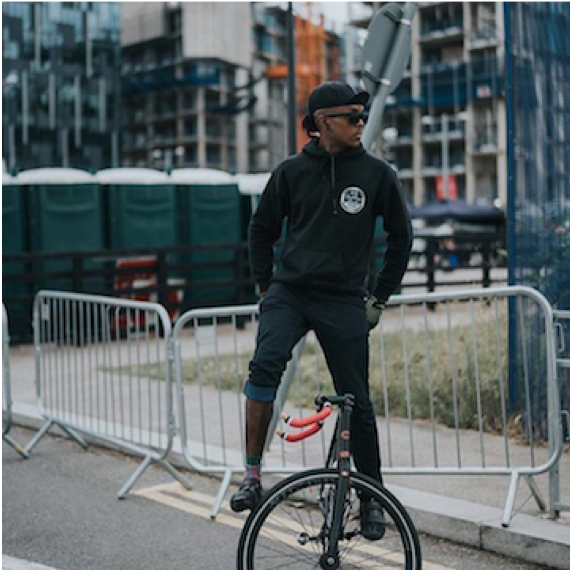 Studheart Charles (London, UK)  Stud is a fixed gear rider and trickster out of London.  He is as legit off the bike as he is on it, as he is all about equality and giving back via mentoring others.