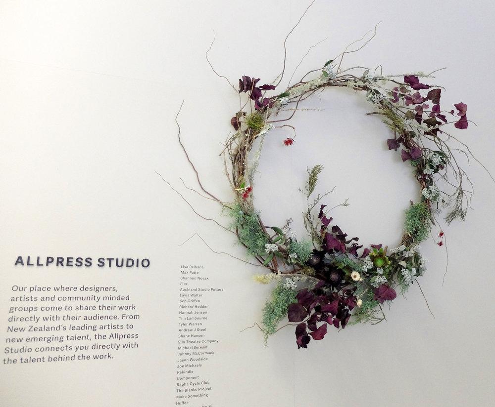 Allpress Christmas wreath