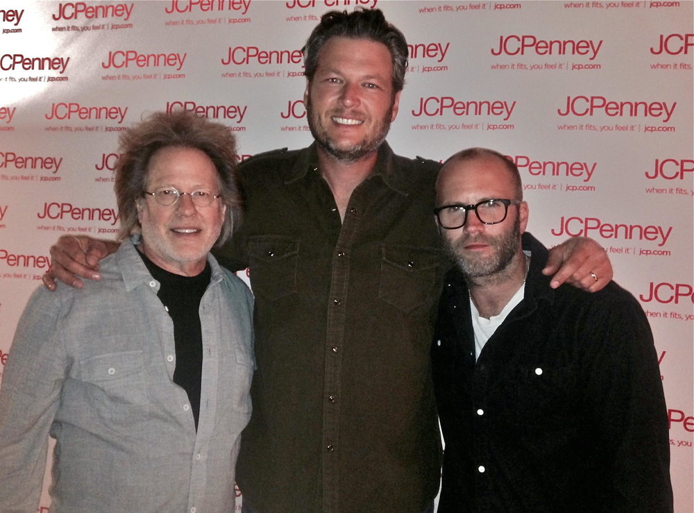 Steve with Blake Shelton & Andrew Dorff