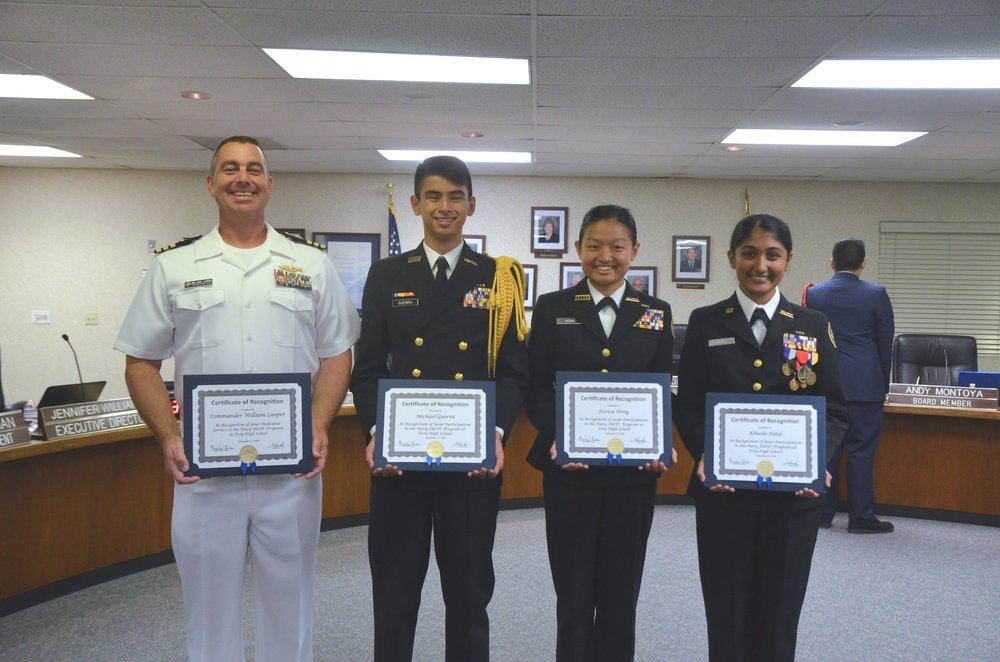 2018 Fullerton Union High School District JROTC Unit Recognition
