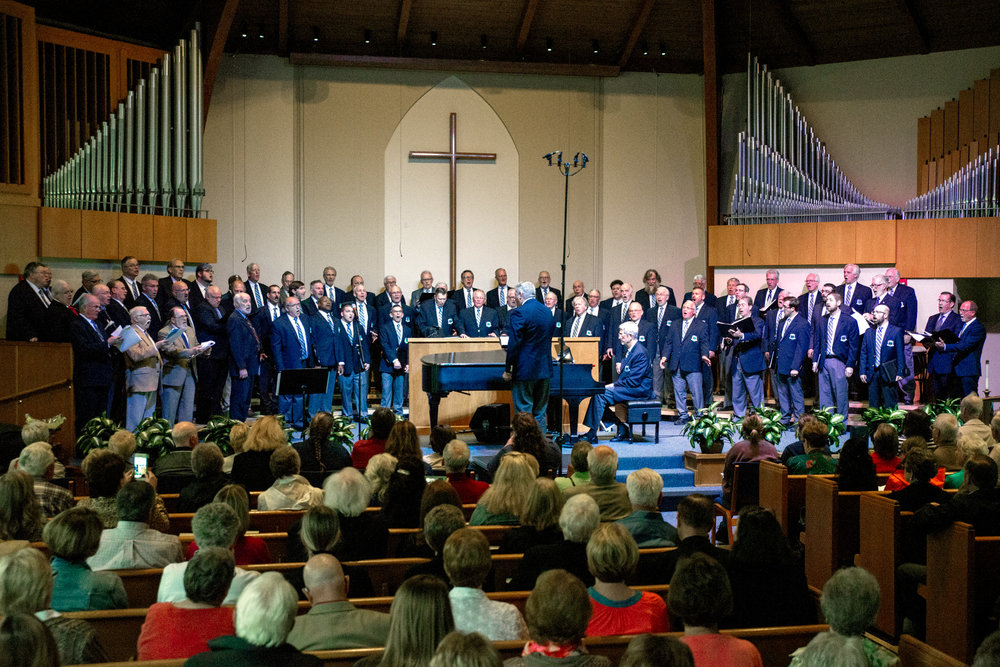 Langsford Men's Chorus is joined by 1968 Wayne State Glee's 50 year anniversary reunion!