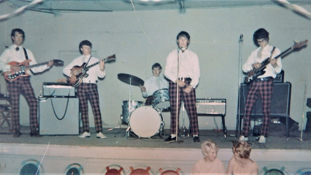 The Gilt Edge 1966 (from left) Bruce Gavin, David Ray, Billy Coleman, Ross Speirs, Barry Dean.