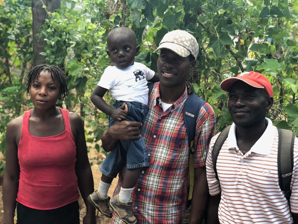 Being a member of the leadership council, his father led us to his home where we met his wife and Joubert. (We didn't meet his sister, but believe she found shelter on her own in the storm.) Hearing their story first-hand was such a humbling experience.