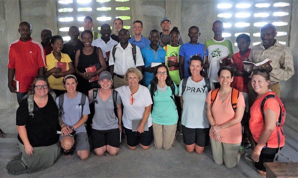 photo with the leadership council of La Beyi, Haiti <3