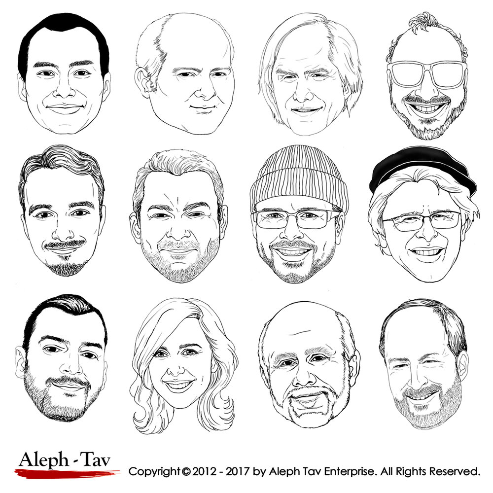 black -and-white-caricature-coworkers-gifts.jpg