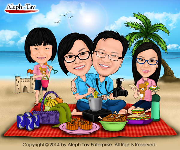 beach-theme-family-caricature-perfect-gifts.jpg