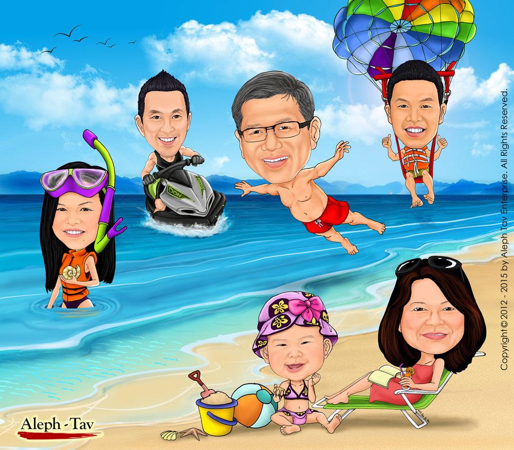 family-caricature-portrait-beach-vacation.jpg