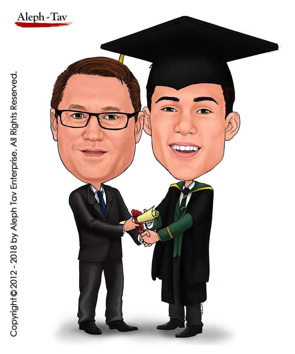 graduation-gift-for-son-custom-caricature-art.jpg